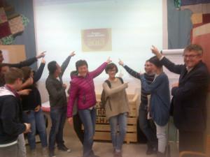 Il gruppo al Liceo Leardi di Casale Monferrato