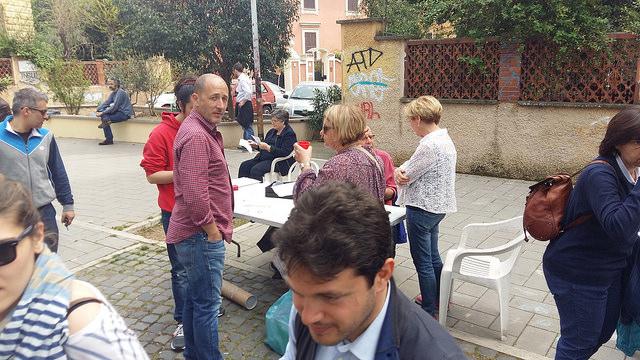 La manifestazione del Comitato Villa Fiorelli